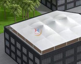 衡水市膜结构商场顶棚-005