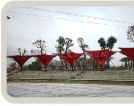 山东淄博市广场膜结构小品