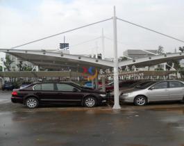 双开式膜结构停车棚