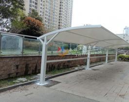 方管型膜结构自行车棚