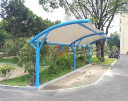圆管型膜结构自行车棚