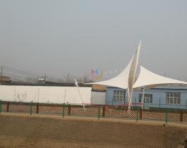 河北辛集市村文化广场张拉膜结构